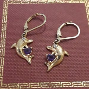Jewelry - Beautiful 925 gold plated with amethyst and diamon